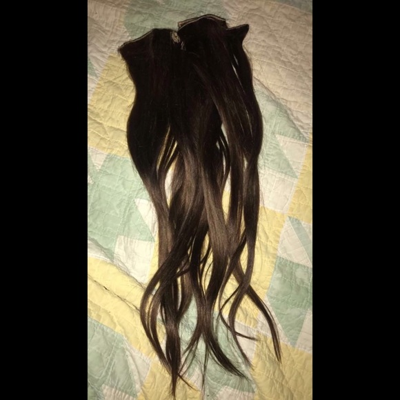Accessories Remy Double Weft Clip In Human Hair Extensions Poshmark